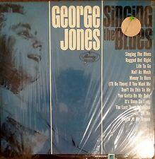 "GEORGE JONES ""Singing The Blues"" RARE! USED 1965 Mercury LP VG+/VG+ MONO"