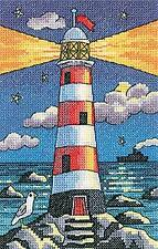 Heritage Crafts Counted Cross Stitch Kit -By the Sea by Karen Carter - Lighthous