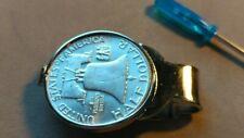 US SILVER  Ben Franklin Mint Silver Half Dollar Stainless MoneyClip Holder