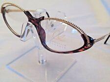 4046e7062ed RARE Christian Lacroix Vintage 7346 30 54mm Brown Tortoise Gold Eyeglass  Germany