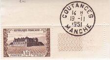 Timbre Château du clos de Vougeot Neuf Tampon de Coutances Manche le 19.11.1951