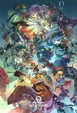 Poster A3 Overwatch Torbjorn Zarya Reinhardt D.va Roadhog Mei Widowmaker 01