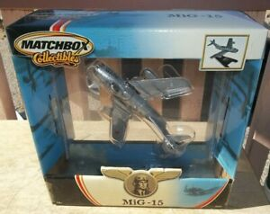 Matchbox Russian Mikoyan-Gurevich Mig-15 Diecast Airplane 1:72 NIB sealed stand