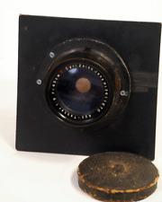 VINTAGE CARL ZEISS 45CM (450mm)  f/9 APO TESSAR lens in 6x6 Wooden Lens Board