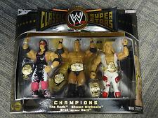 NEW 2005 WWE Classic Superstars Champions The Rock Shawn Michaels Bret Hart