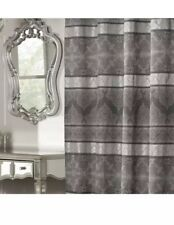 Chatelaine Shower Curtain Silver/Grey 72in X 72in