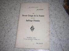 1926.le devoir civique de la femme et le suffrage féminin / Bessières