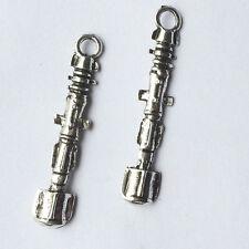 2 x  Sonic Screwdriver Tibetan Silver Bead charms Pendants fr06