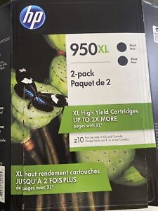 HP 950XL 2-Pack Black Ink Cartridge Unopened New - EXPIRES Dec/2021 - Twin Pack