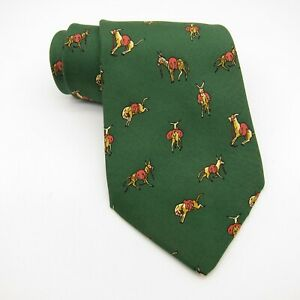 Hermes 100% Authentic Silk Tie Model 7396 PA Mule Donkey Burro Made in France
