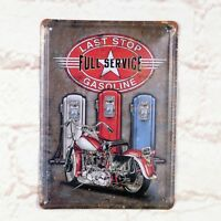 Tin  Metal Signs Home Pub Bar Wall Decor The Last Stop Of Motorcycle Poster