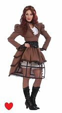 ladies steampunk fancy dress costume size 14 16 cosplay hooped skirt