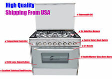 36'' Gas Stove 6Burner Gas Stove with 95.6L large Oven Hith Quality 220V New