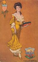 CALIFORNIA CA – St. John Signed California State Postcard