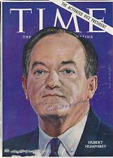 Hubert Humphrey- Signed Time Magazine Cover