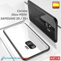 CARCASA MSVII GLASS SAMSUNG GALAXY S9 / S9 PLUS FUNDA BUMPER Cristal TPU COVER +