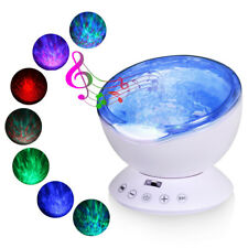 Relaxing Ocean Wave Music LED Night Light Projector Remote Lamp Baby Sleep HOT