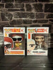 Funko Pop Icons Bundle x2 - Colonel Sanders & Rock Out Ronald McDonald **BNIB**