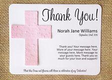 Cross Baptism Dedication Plantable Seed Paper Favors - Set of 12, 39 Colors