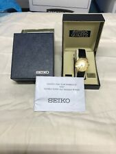Vintage Seiko Gold Tone Men's Quartz Watch / Chapman College w/ Box