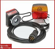 Kit /Jeu de feux arrière magnétiques remorque 7 broches Longueur câble : 7,50 m