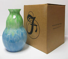 """X8199B6 - 9 1/2"""" Off Hand Vase, by Dave Fetty - New in Box"""