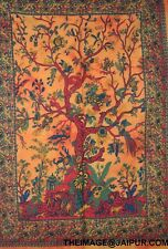 Indian Birds Tree of Life Tapestry Wall Hanging Throw Hippie Poster Dorm Decor