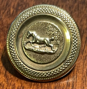 antique sporting Button of a horse, back mark, A & M, Sporking. Best Quality.