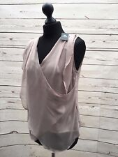 COOKIE CULTURE SADIE TAUPE SLEEVELESS FLOATY LAYERED TOP SIZE SMALL BNWT