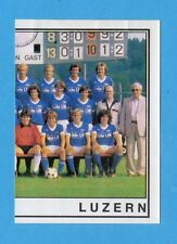 SVIZZERA -FOOTBALL 82 -PANINI -Figurina n.154- SQUADRA DX - LUZERN/LUCERNA-Rec