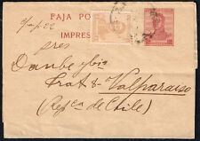 1028 Argentina To Chile Ps Stationery Wrapper Buenos Aires - Valparaiso