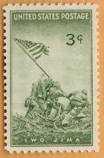 MARINES IWO JIMA US STAMP Vintage 1945 WWII Unused MNH Win The War AMERICAN FLAG