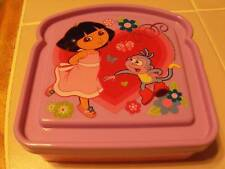 DORA the EXPLORER CHILD SANDWICH KEEPER LUNCH BOX new