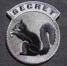 TOP SECRET SQUIRREL BLACK OPS TACTICAL ACU DARK VELCRO® BRAND FASTENER  PATCH
