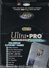 200 ULTRA-PRO HOLO PLATINUM 9 CARD POCKET PAGES SHEETS 209D