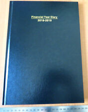 Diary OLD FINANCIAL YEAR 2018/19 A4 Week To View Hardcover Black
