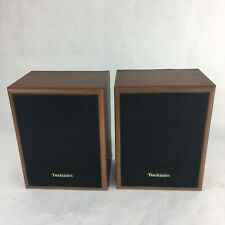 Vintage Technics SB-S16 Bookshelf Wall Speakers - Wood Grain - 30 Watt - 8 Ohm
