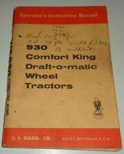 Case 930 Comfort King Draft O Matic Tractor Operators Manual Original 9 1571