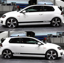 High Quality Side Body Decal Sticker Set for Volkswagen VW GOLF Polo 6R 6C GTI R