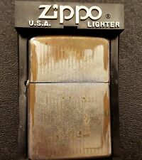Zippo 1973 Vintage Retro Lighter Collectible Heavy Use w/Case