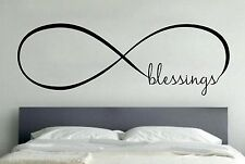 BLESSINGS INFINITY LOVE Wall Art Decal Quote Words Lettering Home Decor DIY