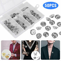 Butterfly Pin Backs Holder Clutch Badge Lapel Tie Tacks Back Replacement Pins US