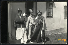young girls in woman costume, funny, Vintage Photograph, 1930's Hungary