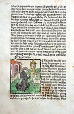HIERONYMUS ALTVÄTER LEBEN INKUNABELBLATT AUGSBURG SORG ALTKOLORIERTER HS 1482