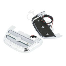 Clear LED Passenger Footboard Floorboard Cover For Harley Touring Trike Softail