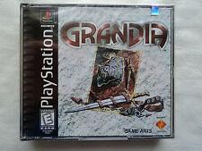 Grandia PlayStation 1 PS1 NEW SEALED Black Label Y-Fold