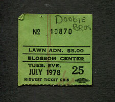 1978 Doobie Brothers Concert Ticket Stub Cuyahoga Falls Minute by Minute