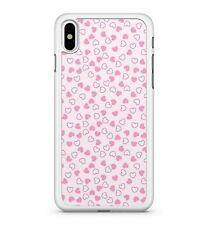 Luscious elegante claro mezclado Rosa Pretty Mini Corazones Patrón 2D Teléfono Estuche Cubierta