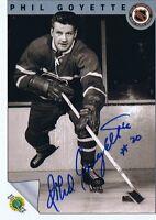 Phil Goyette 1992 Ultimate Autograph #11 Canadiens