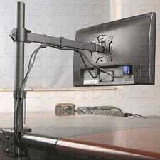 "SINGLE LCD LED VESA MONITOR DESK STAND MOUNT CLAMP ARM ADJUSTABLE SCREENS 15-27"""